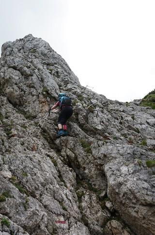 Abstieg über den Karl-Kantner-Steig