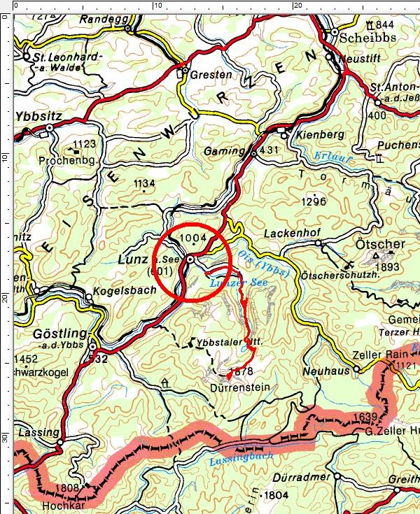 Tourengebiet Lunzer See - Dürrenstein
