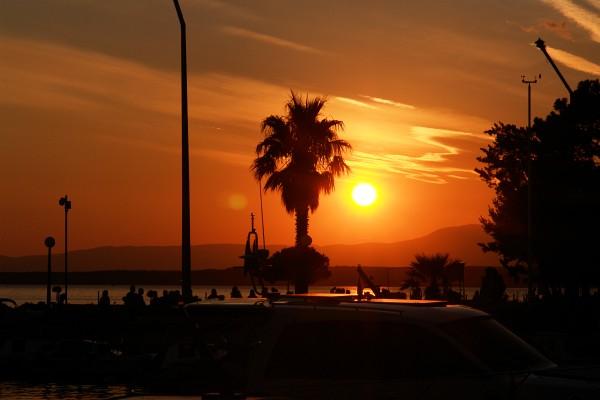 Sonnenuntergangs-Impressionen in Crikvenica