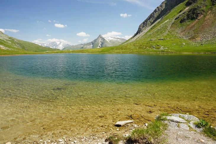 Ein herrliches Bad im Oberen Bockhartsee
