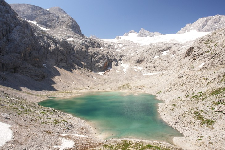 Eissee und Dachsteingletscher