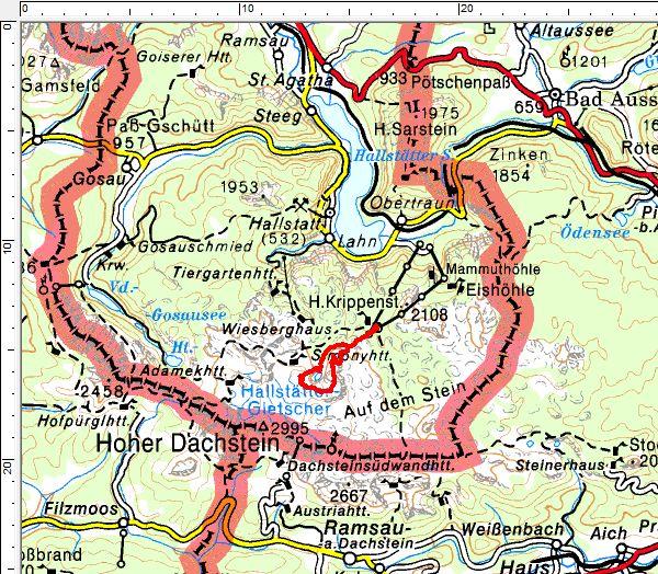 Das Tourengebiet am Dachsteingebirge