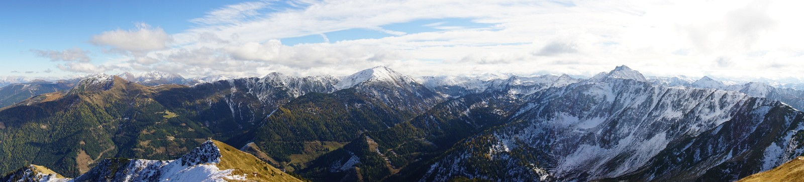 Winterlicher sieht es in den südlicheren Gipfel der Rottenmanner und Wölzer Tauern aus