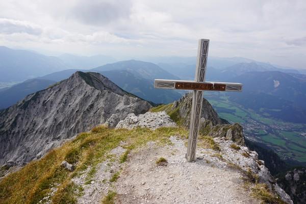 Gipfelkreuz am Riffel (Rifflspitz)