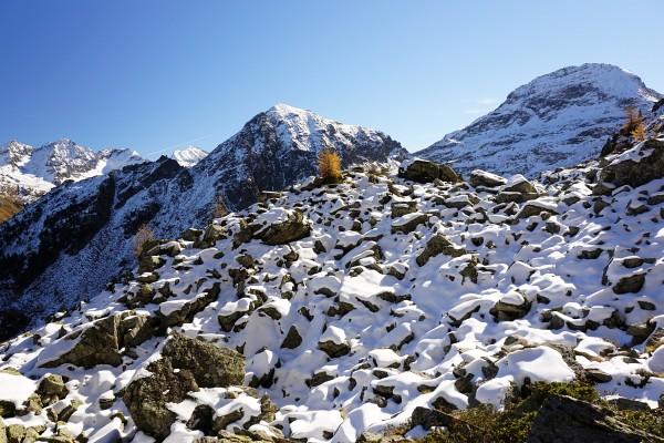 Im Murspitzsattel wird es allmählich winterlicher
