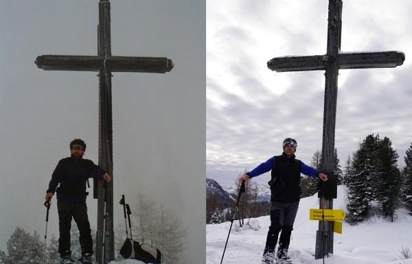 Beim Gipfelkreuz am Hochmühleck: 2004 - 2016