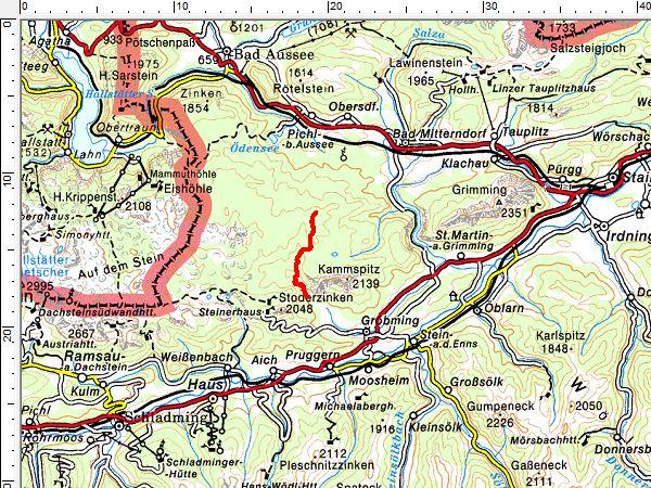 Tourengebiet Kemetgebirge
