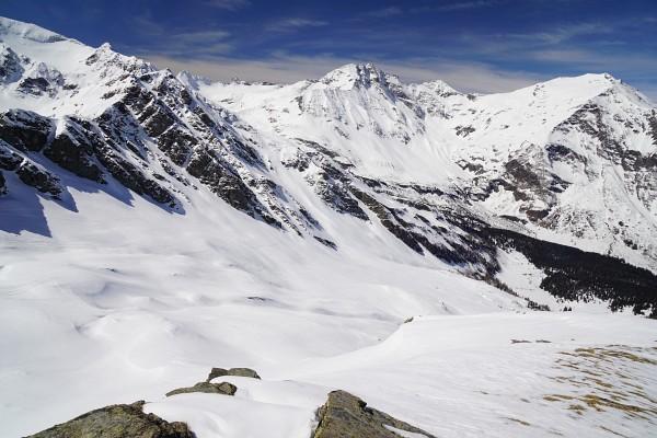 Ausblick vom Seekopf über das bisherige Aufstiegsgebiet
