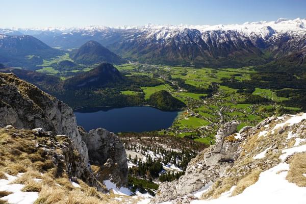 Tiefblick über Altaussee