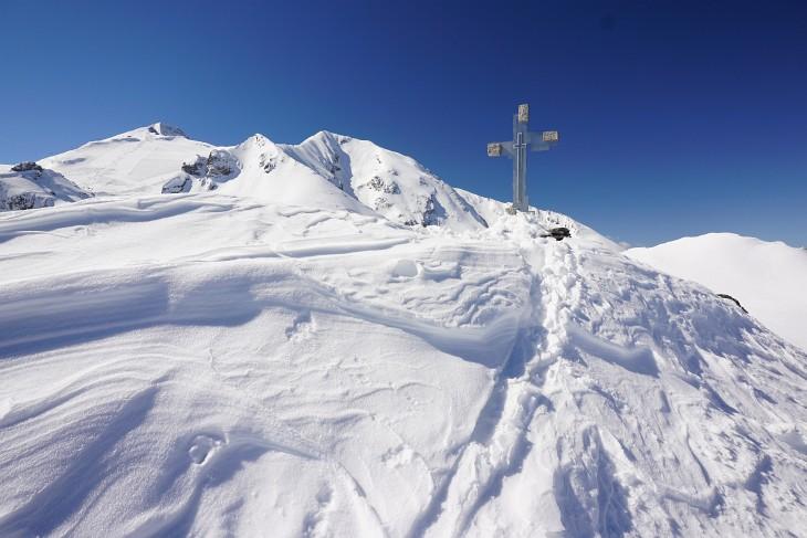 Gipfelkreuz auf der Weißen Wand