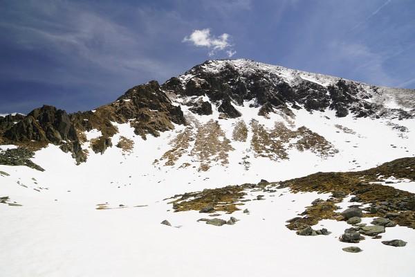 Über ein nordseitiges Kar zum Wanderweg auf den Hochstubofen