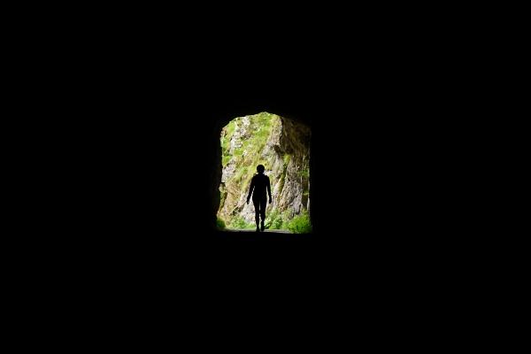 Hoffentlich bald Licht am Ende des Regen-Tunnels (am Salza-Stausee)