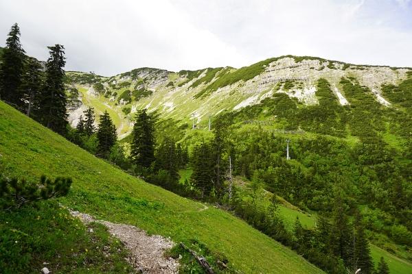 Über den Bergrücken von rechts nach links zum Hochkar-Gipfel