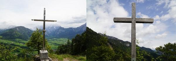 Dörfelstein: 1 Bergerl - 2 Gipfelkreuze