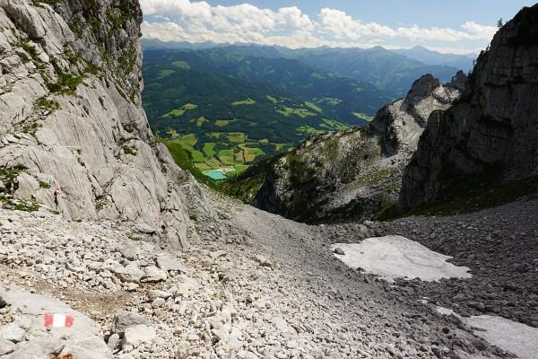 Abstieg über den Normalweg vom Multereck zur Grimminghütte