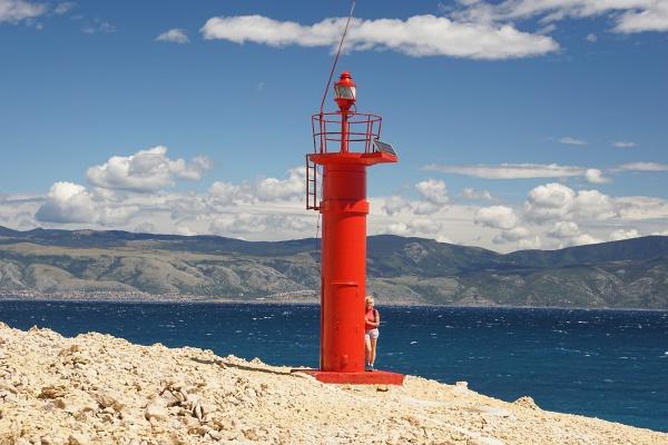 Leuchtturm Skuljica am Südende der Insel Krk