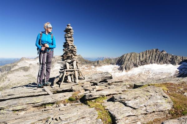 Ingrid am Gipfel der Grauleitenspitze