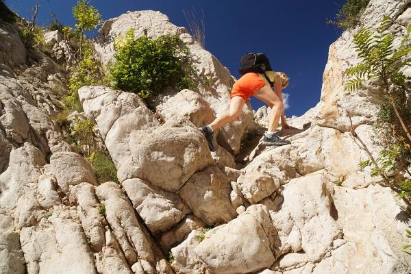 Kurze Felsstufen in der Vrzenica-Schlucht