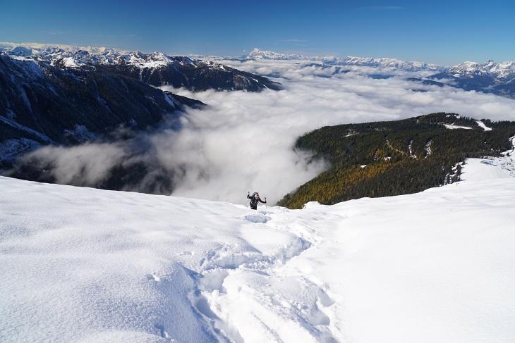 Über der Nebeldecke auf den Krahbergzinken