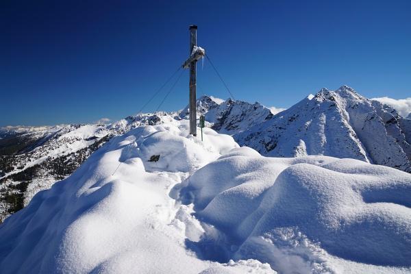 Gipfelkreuz am Krahbergzinken