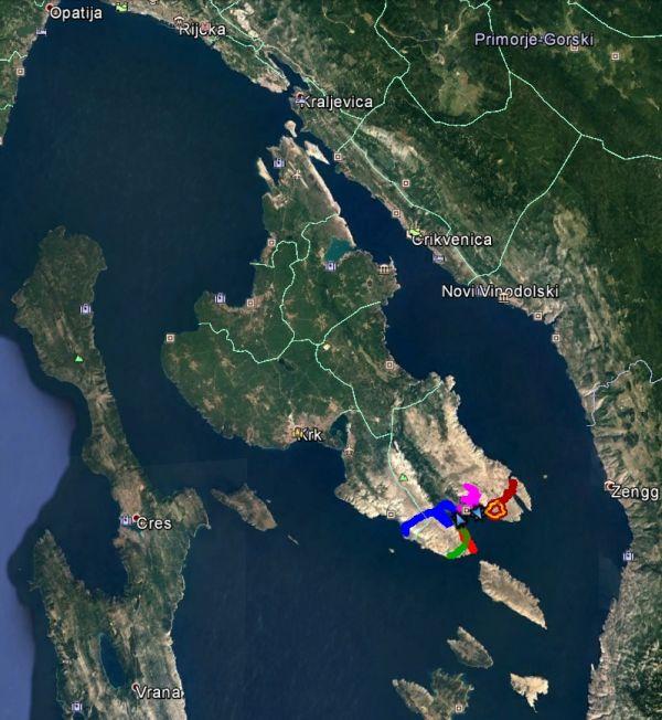 Überblick über die Insel Krk in der Kvarner Bucht, südlich von Rijeka gelegen