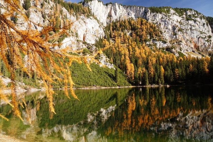 Idylle am Ahornsee - auch wenn die Nadelpracht angesichts des fortgeschrittenen Herbstes nicht mehr ganz so schön ist