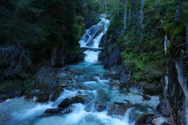 Wasserfall in der Nähe der Ulnhütte