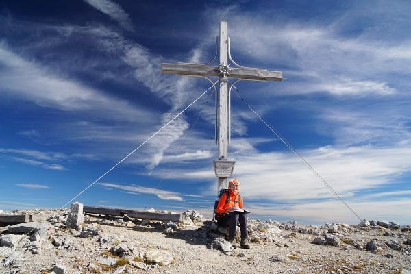 Das neue Gipfelkreuz am Weißeck