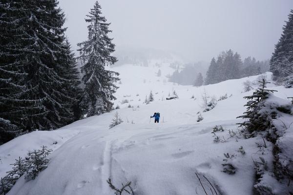 Aufstieg vom Plateau in Tschengla Richtung Schillersattel.