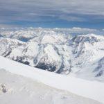"""Herrlicher Ausblick vom Gipfel, auch wenn die Farben etwas """"verwaschen"""" wirken."""