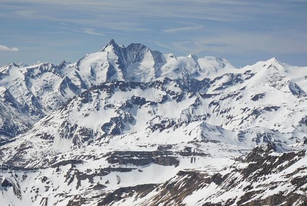 Glocknerblick vom Hocharn-Gipfel