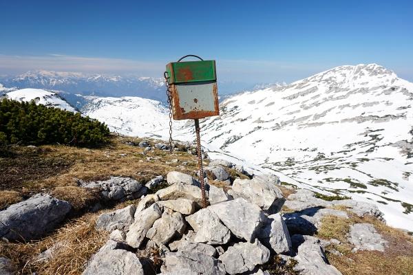 Gipfelbuchkassette am Grießkogel
