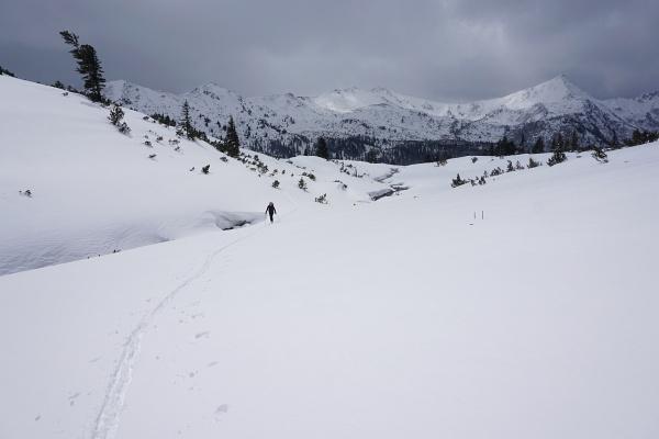 Ende April herrscht noch der Winter im Plannerkessel