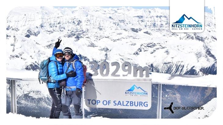 """Die AlpenYetis beim Photopoint """"Top of Salzburg"""" in 3.029 Meter Seehöhe."""