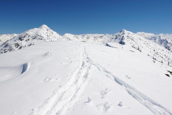 Übergang von der Gasselhöhe zum Rippeteck (rechts). Links der Schober.