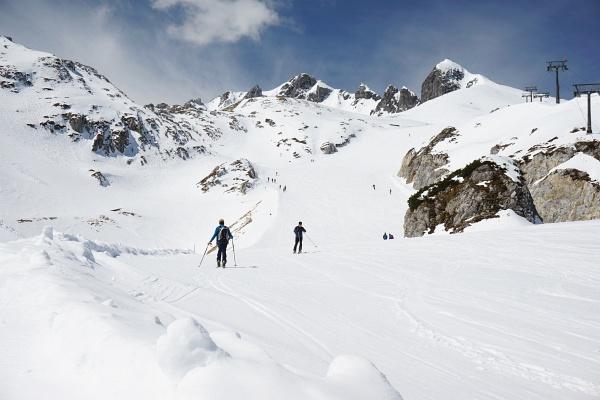 Aufstieg zur Zehnerkarbahn-Bergstation