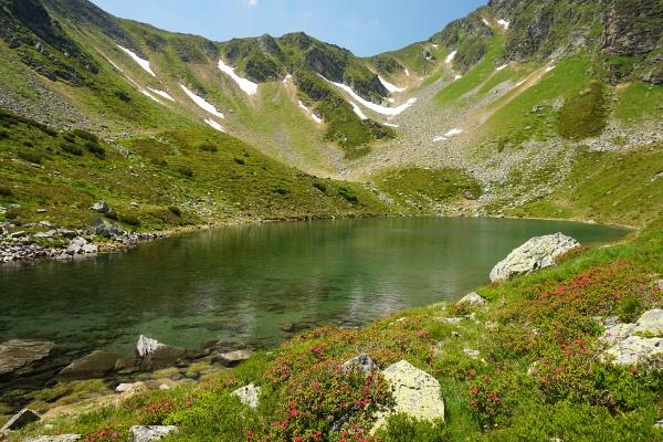 Wir wollten uns die 500 Höhenmeter beim Wiederaufstieg rechts der Bildmitte vom Grünen See zurück auf die Hochhaide ersparen