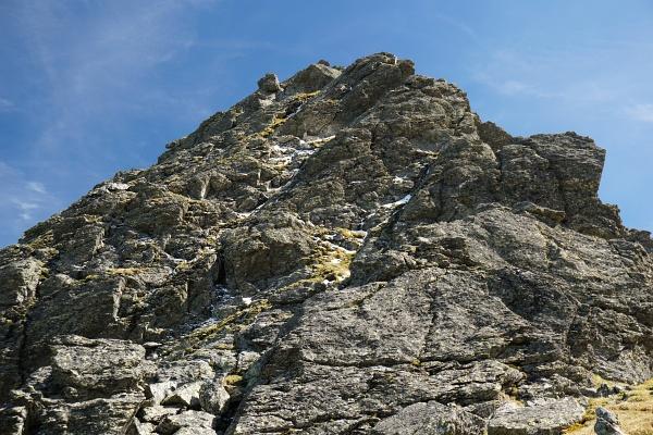 Leichte Kletterstellen im oberen Abschnitt am Schöderkogel-Nordgrat.
