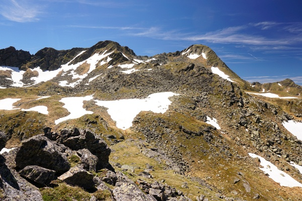 Blick vom Gruberkarspitz zum Schöderkogel (rechts) - dem Gipfelziel meiner letzten Wanderung