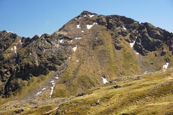 Heute war die Arkogel-Nordflanke schon wieder schneefrei und ideal zum Begehen