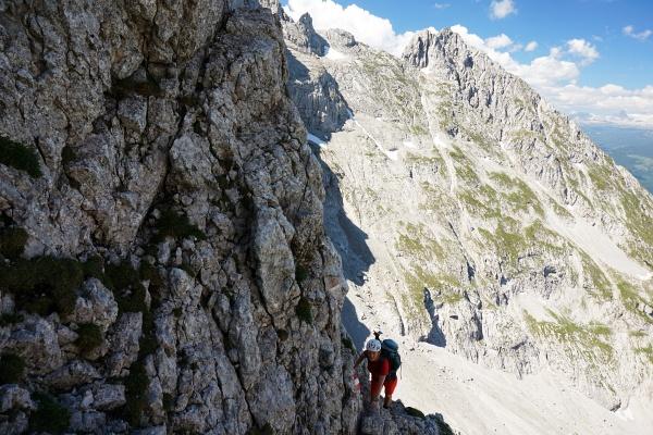 Die AlpenYetin in der Kraxlpassage