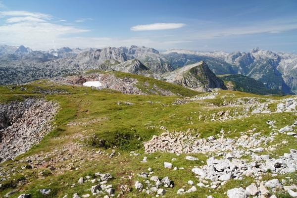 Unterwegs auf der Kleinen Reibn vom Schneibstein Richtung Südwesten bis zum Seeleinsee