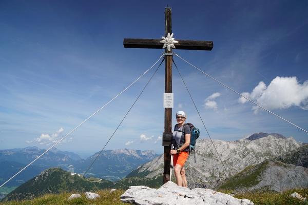 Einsamer Gipfelbesuch am Windschartenkopf