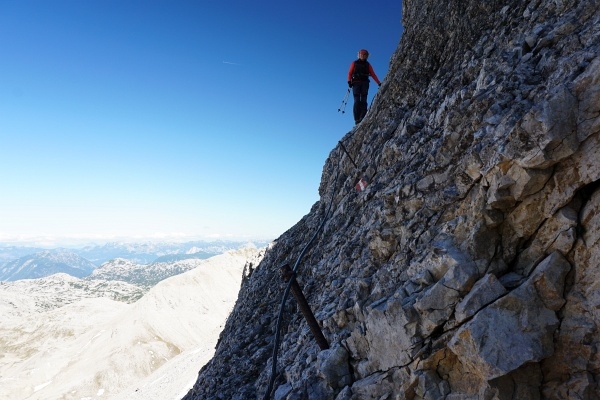 Abstieg von der Scheichenspitze