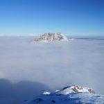 Nur der Kammspitz ragt aus dem Nebelmeer heraus