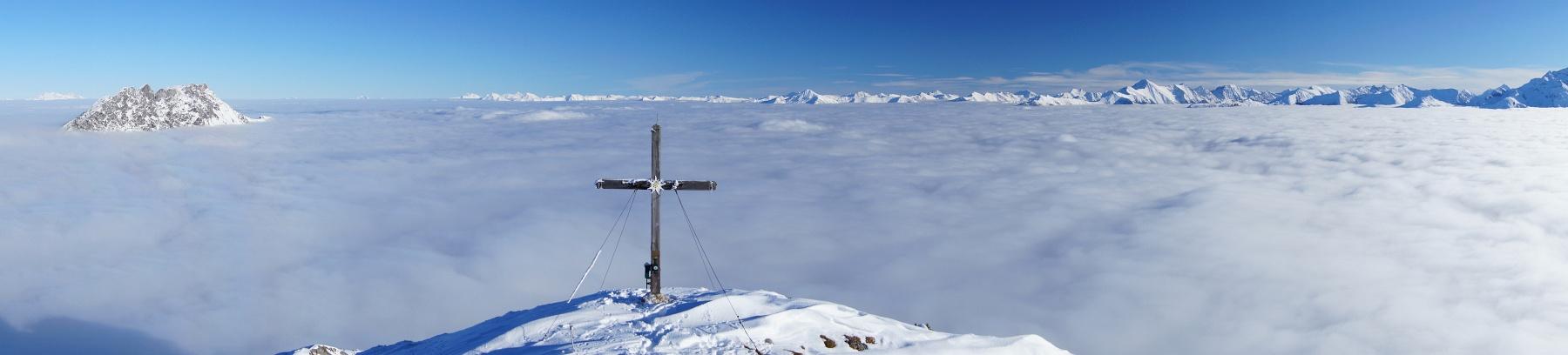 Nebelmeer über dem Gröbminger Land (Klick zur Vergrößerung)