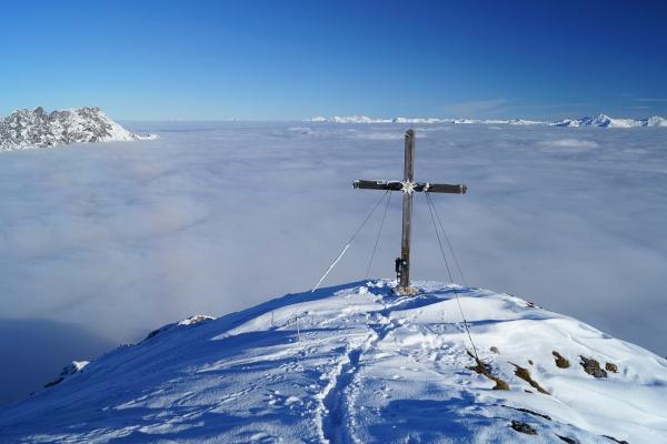 Beim Gipfelkreuz am Stoderzinken
