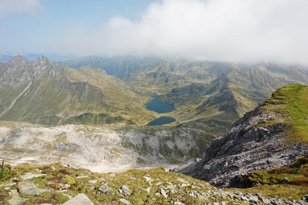 Ausblick von der Lungauer Kalkspitze über die Giglachseen