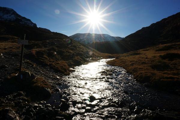 Über den Giglachbach - dem Abfluss des Giglachsees