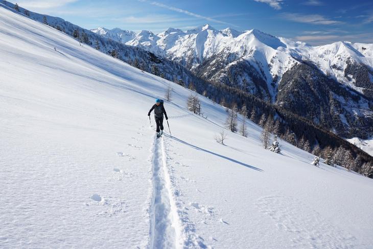 Unser 2. Anstieg - dieses Mal bis zum Gipfelkreuz am Karlspitz